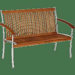 Gartenbänke Holz Metall