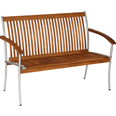 Gartenbänke aus Holz & Metall